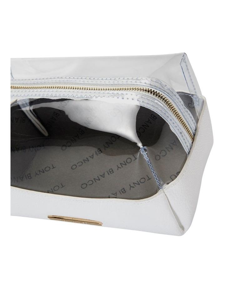 Top Zip Cosmetic Bag White image 4