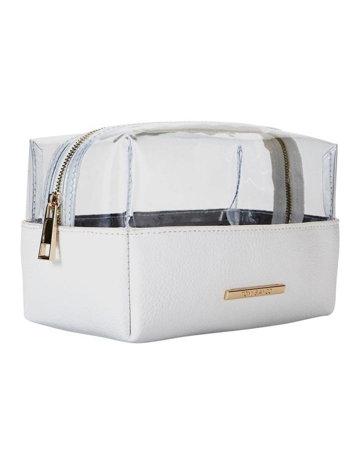 Top Zip Cosmetic Bag White image 5