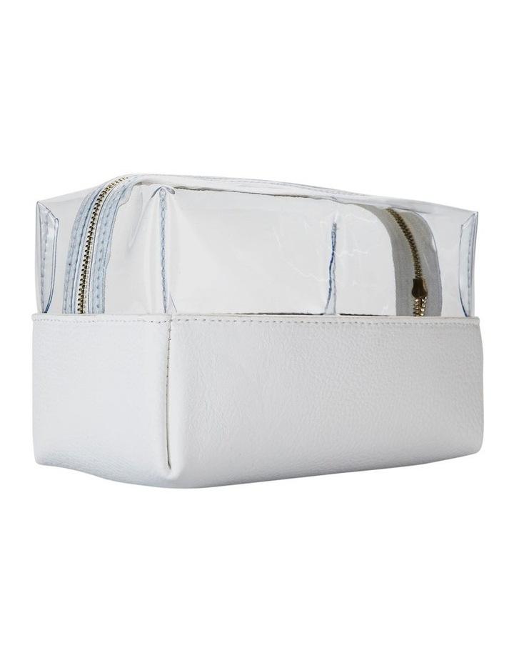 Top Zip Cosmetic Bag White image 6