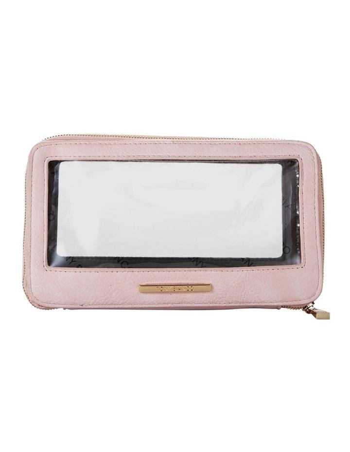 Double Zip Around Cosmetic Bag Pink image 1