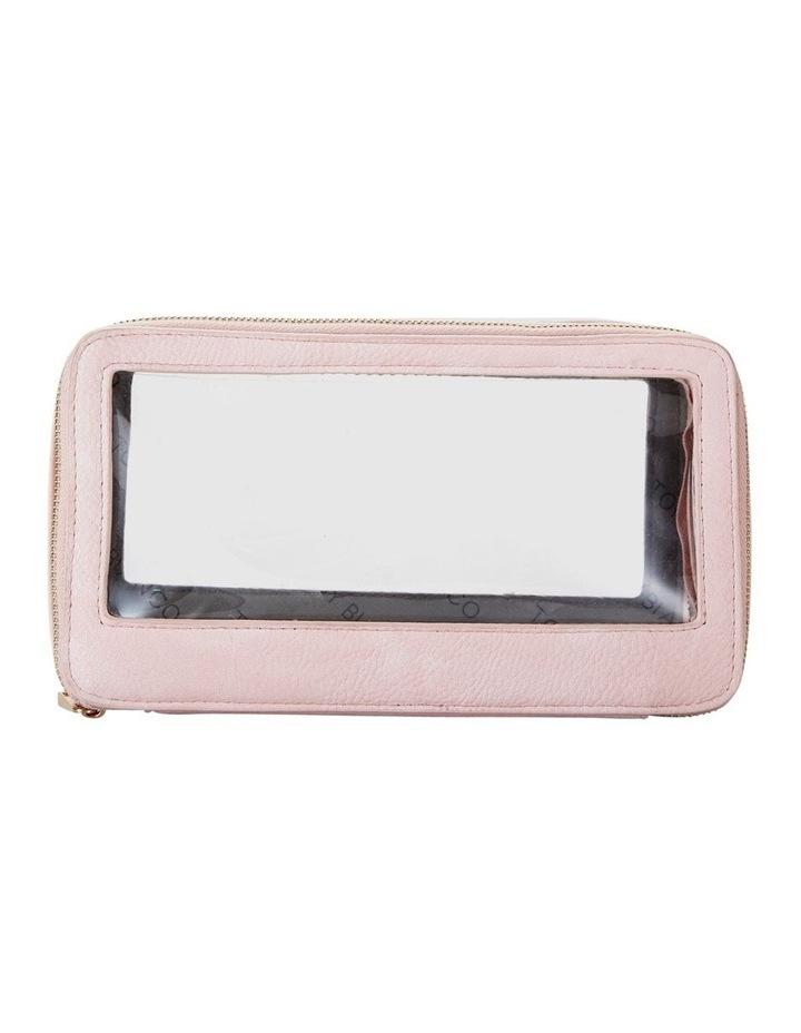 Double Zip Around Cosmetic Bag Pink image 2
