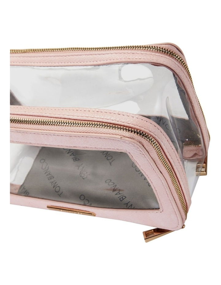 Double Zip Around Cosmetic Bag Pink image 4