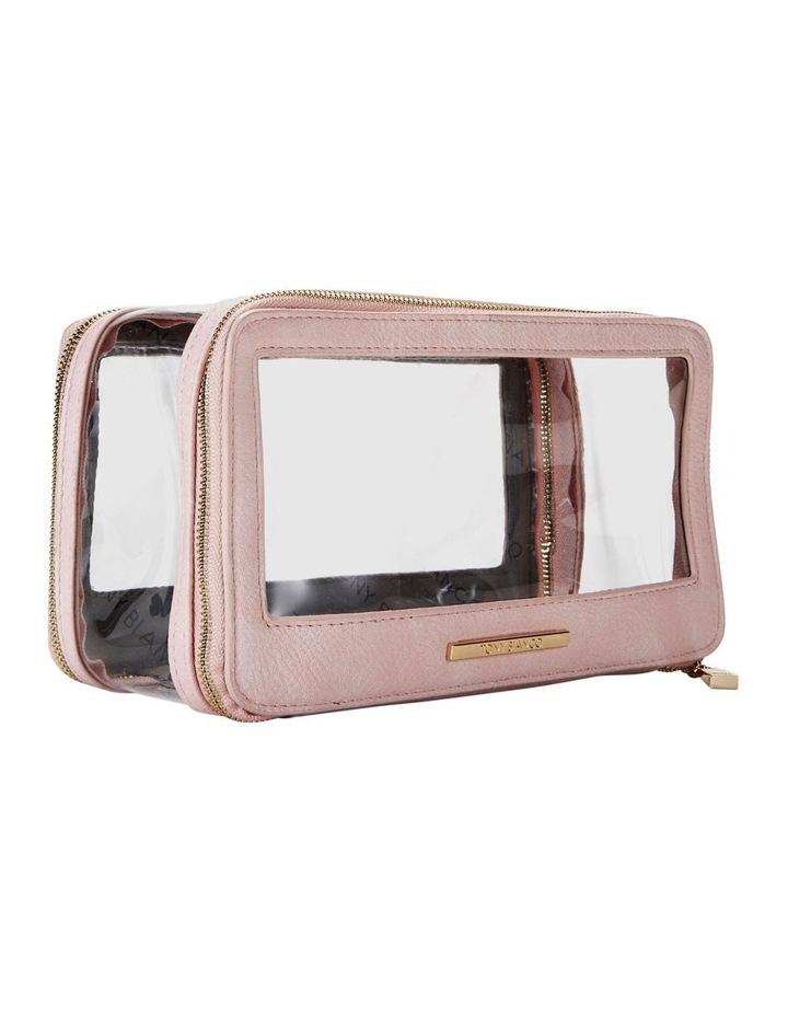 Double Zip Around Cosmetic Bag Pink image 5