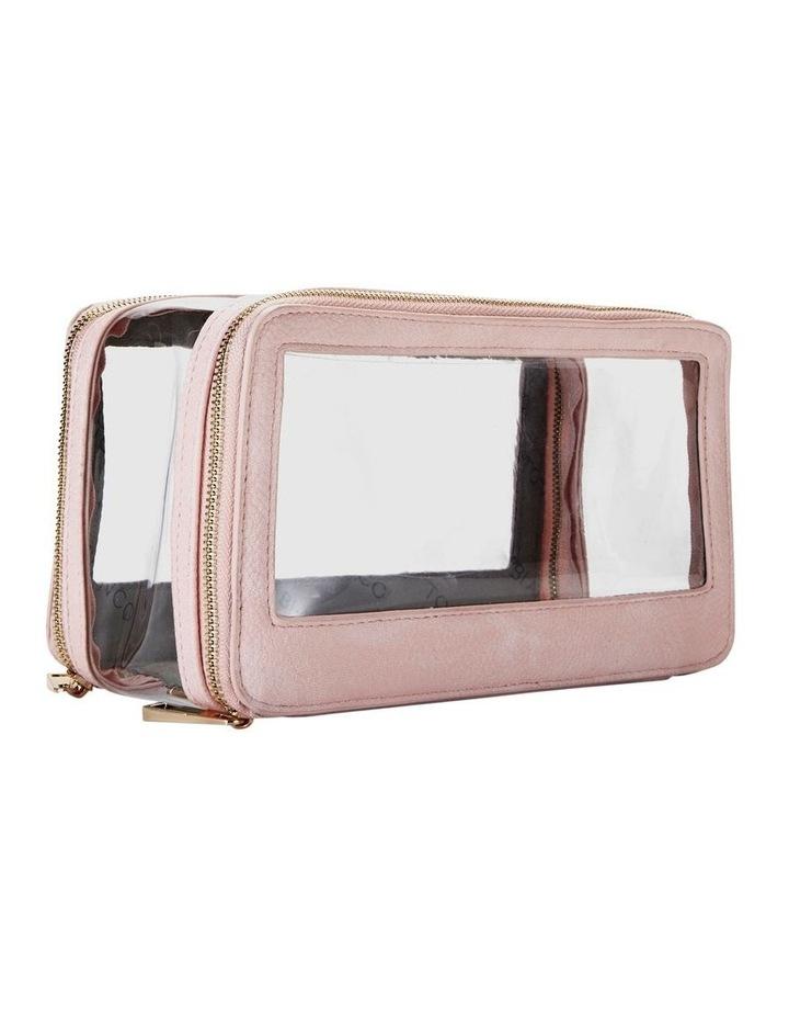 Double Zip Around Cosmetic Bag Pink image 6