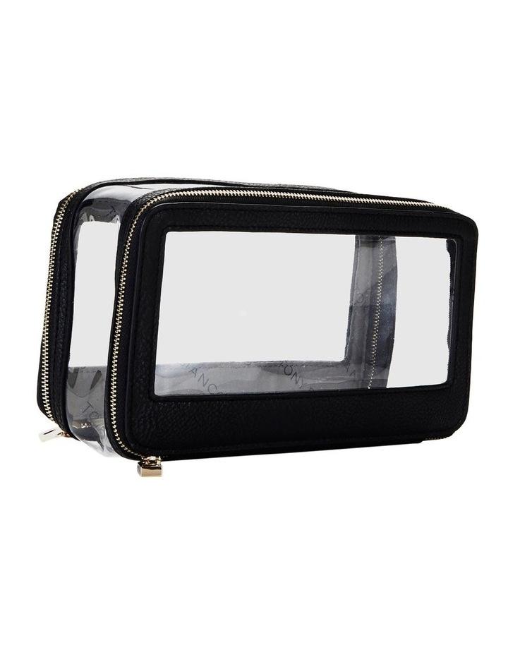 Double Zip Around Cosmetic Bag Black image 6