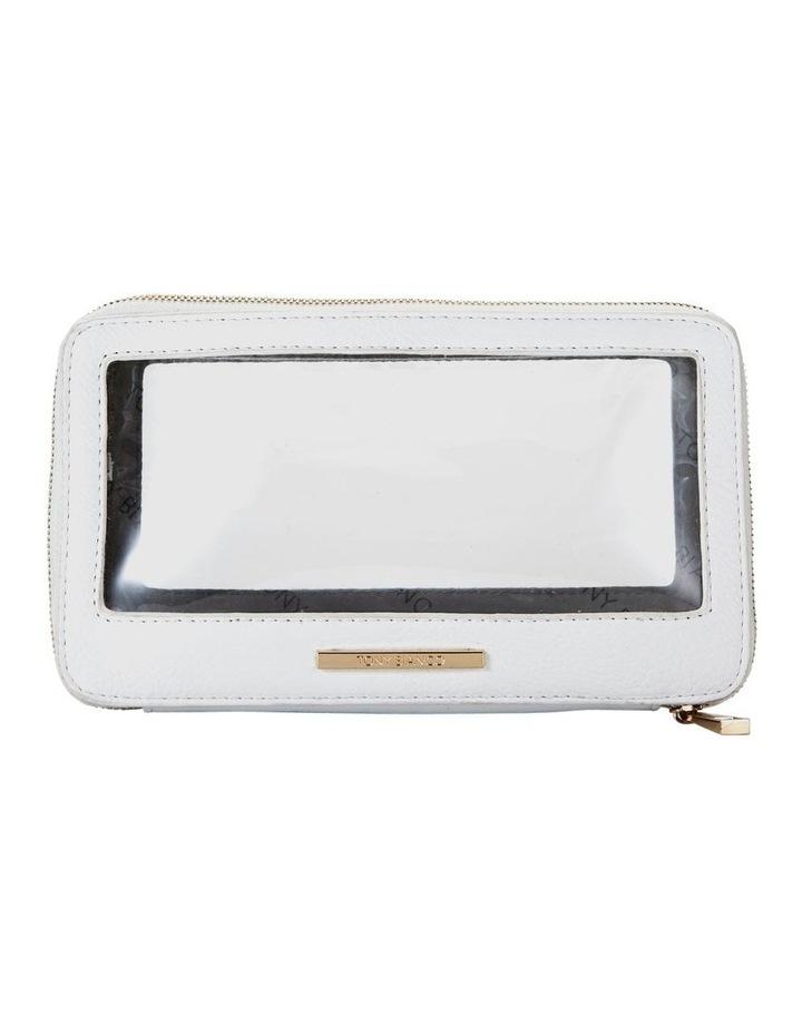 Double Zip Around Cosmetic Bag White image 1