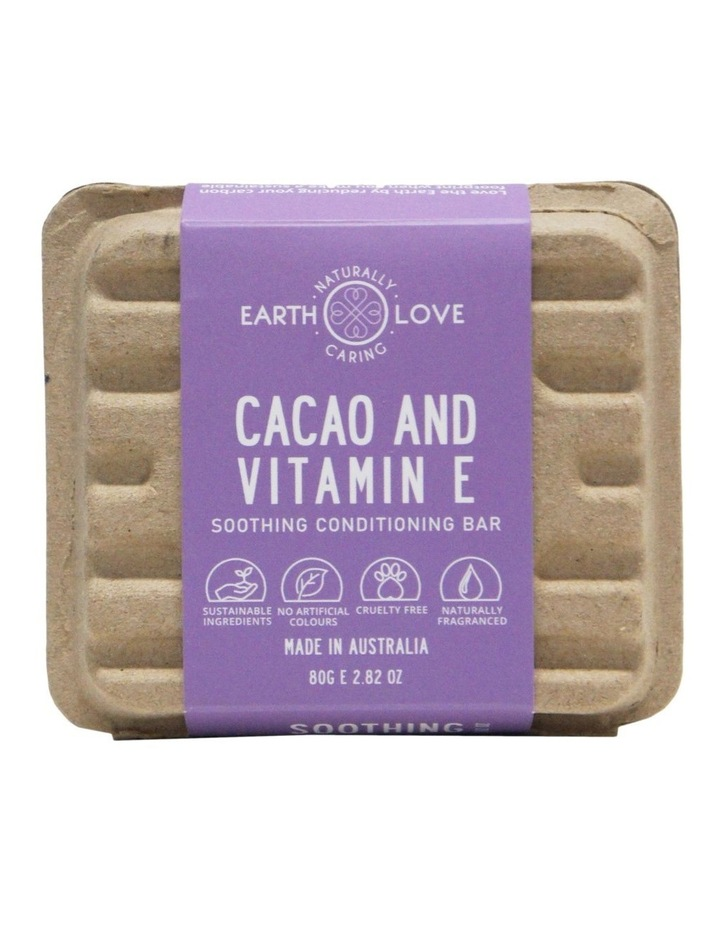 Earth Love 80g Soothing Conditioning Bar - Cacao& Vitamin E image 2