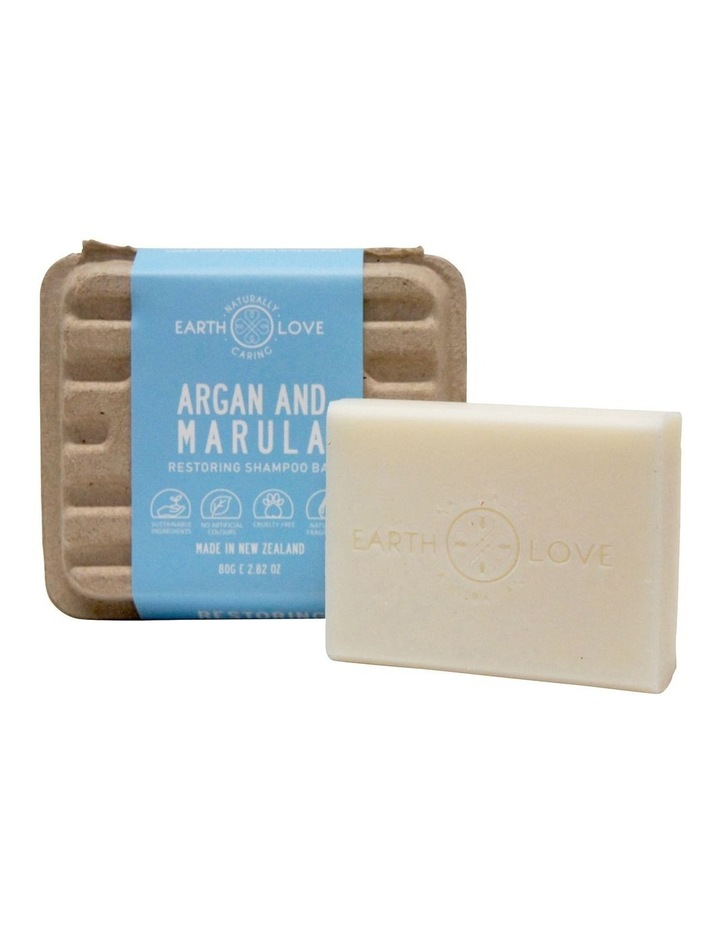 Earth Love 80g Restoring Shampoo Bar - Argan & Marula image 1