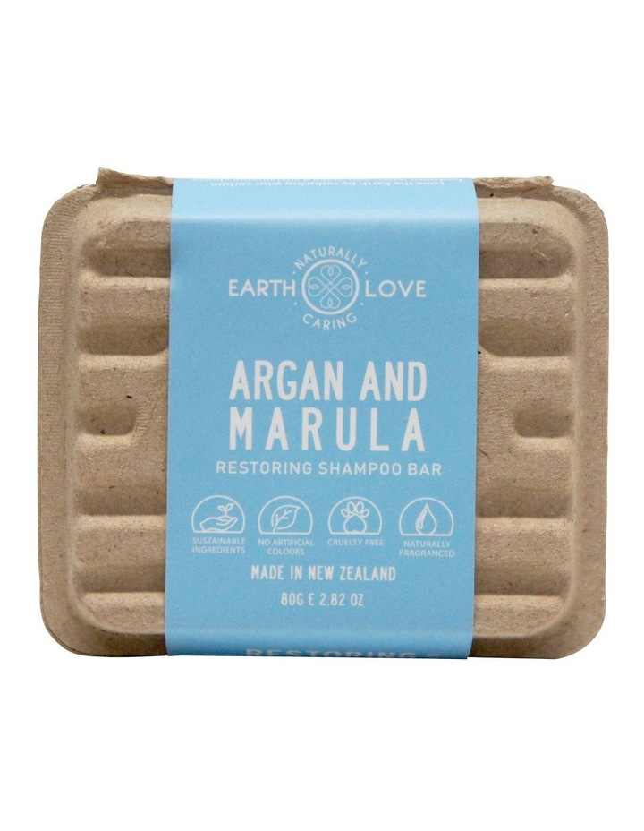 Earth Love 80g Restoring Shampoo Bar - Argan & Marula image 2