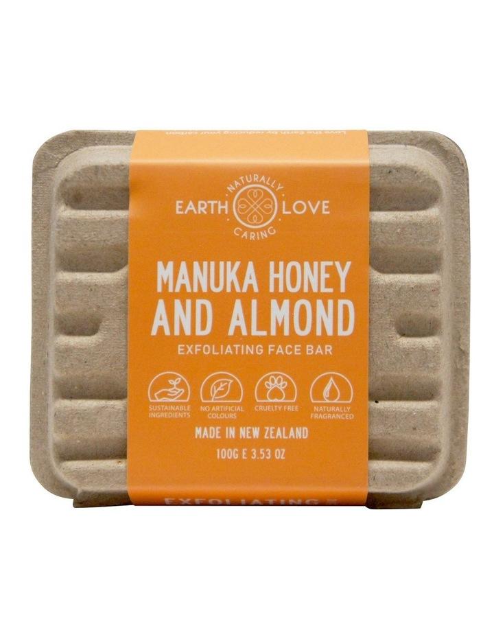 Earth Love 100g Facial Scrub Bar - Manuka Honey & Almond image 1