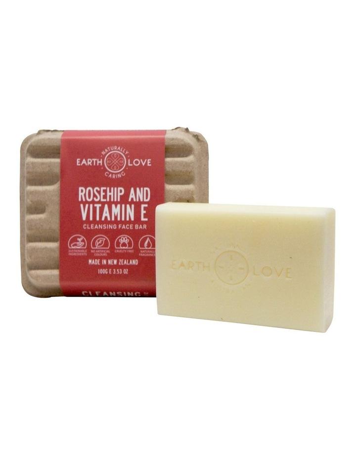 Earth Love 100g Facial Scrub Bar - Rosehip & Vitamin E image 1