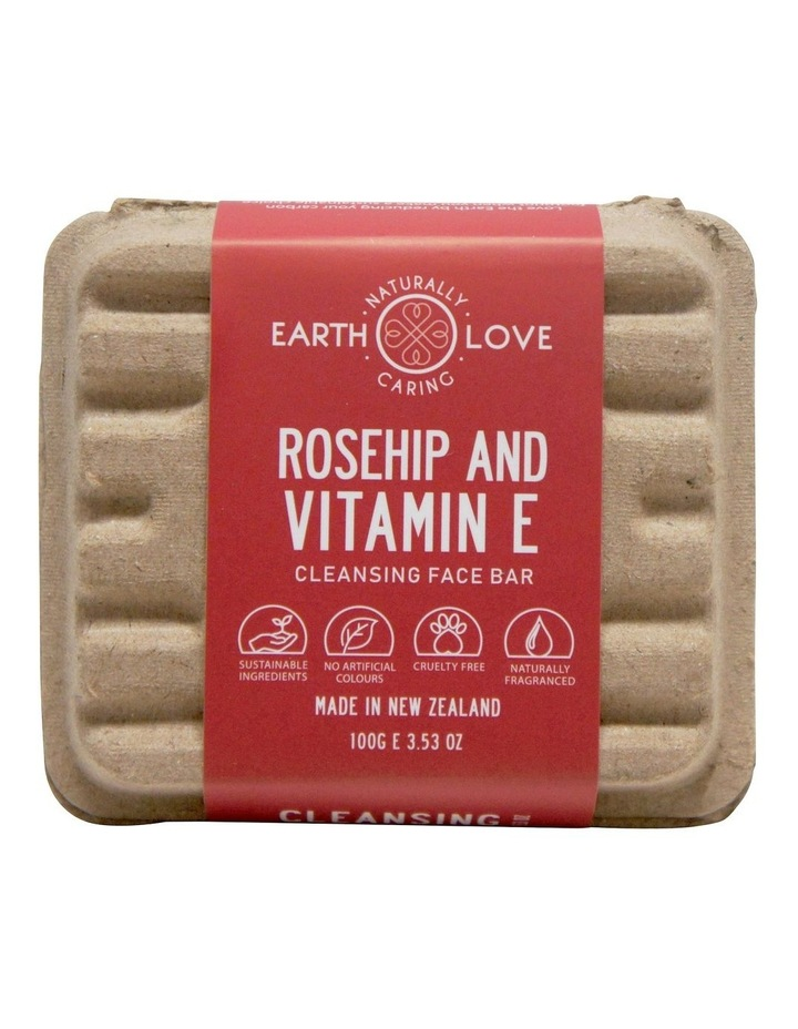 Earth Love 100g Facial Scrub Bar - Rosehip & Vitamin E image 2