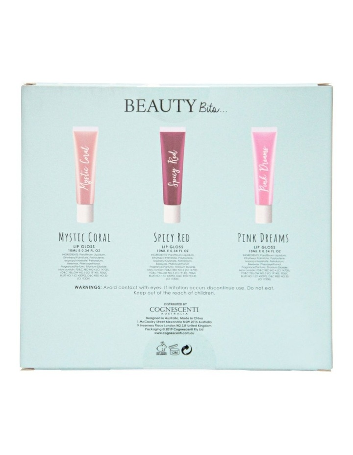 K Beauty Lip Gloss Trio - Mystic Coral+Spicy Red+Pink Dreams image 2