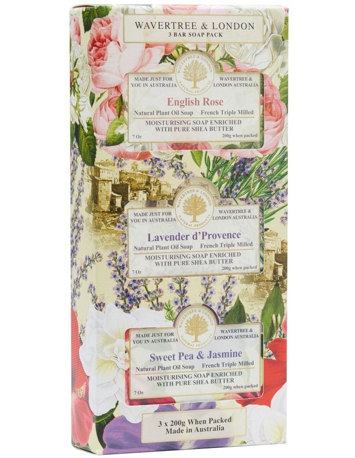 Floral Soap Trio Pack image 2
