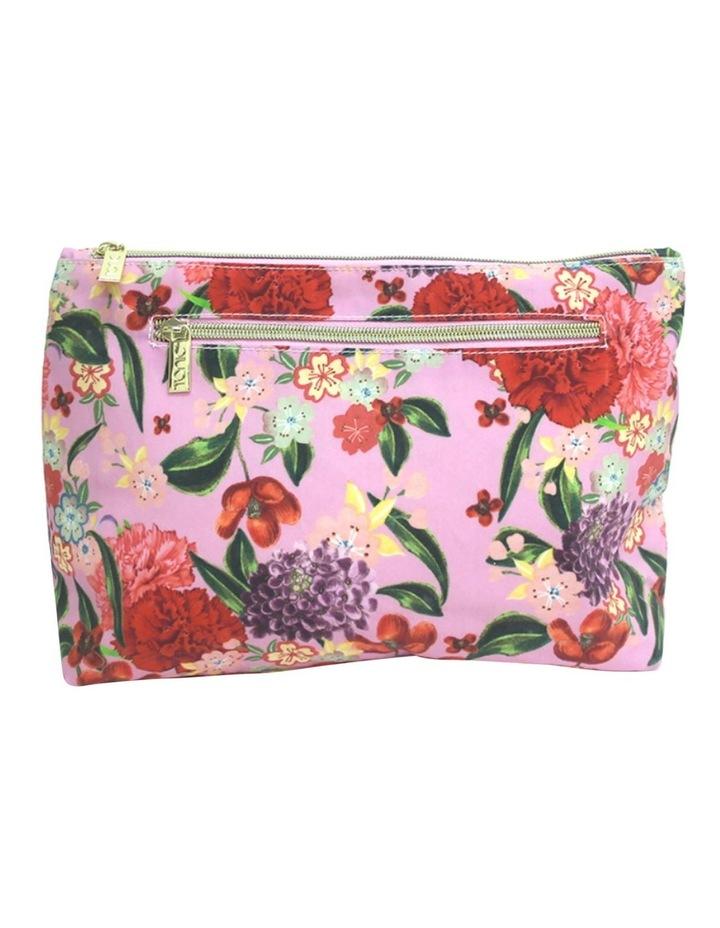 Large Cosmetic  Bag Romantic Garden image 1