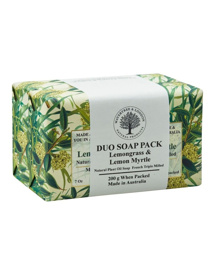 Lemongrass & Lemon Myrtle Soap Duo Pack image 2