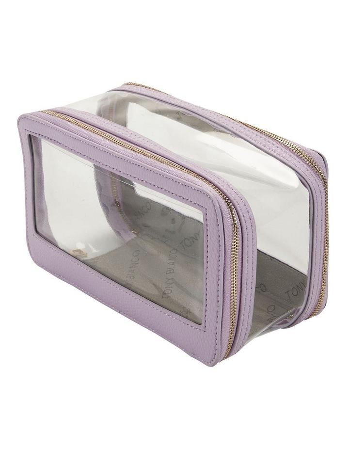 Double Zip Around Cosmetic Bag image 3