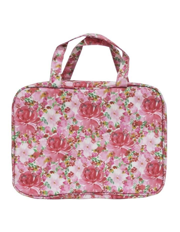Hanging Cosmetic Bag Flourish Pinks image 1