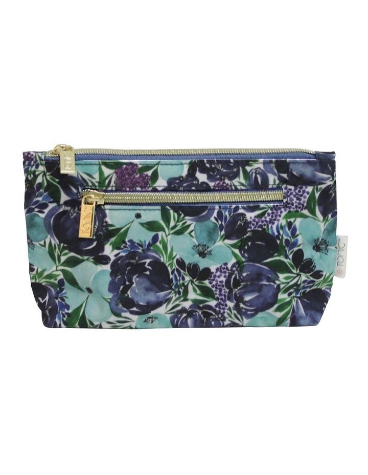 Small Cosmetic Bag Flourish Blues image 1