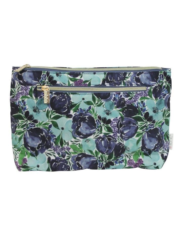 Large Cosmetic Bag Flourish Blues image 1