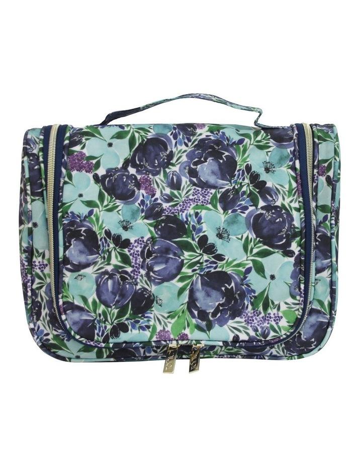 Essential Hanging Cosmetic Bag Flourish Blues image 1