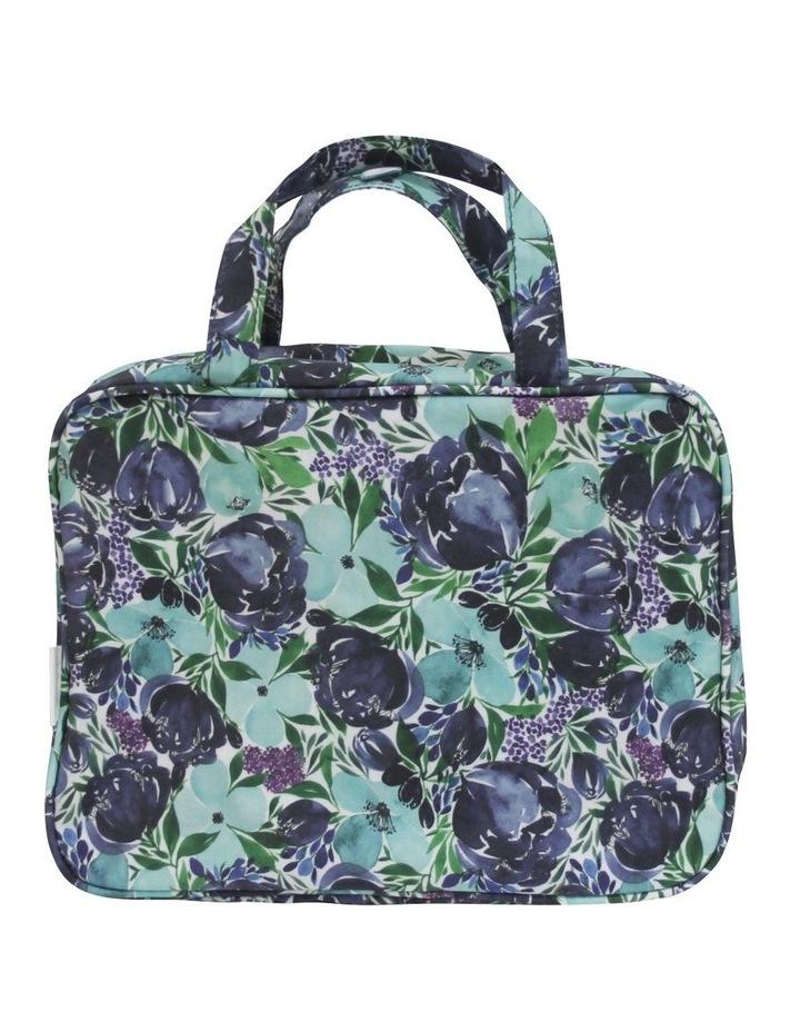 Hanging Cosmetic Bag Flourish Blues image 1