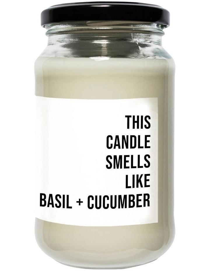Regular Soy Candle Basil + Cucumber image 1