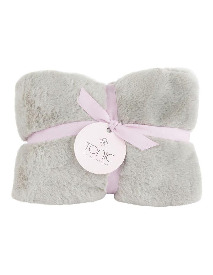 Deluxe Vegan Fur Heat Pillow in Smokey Grey image 1