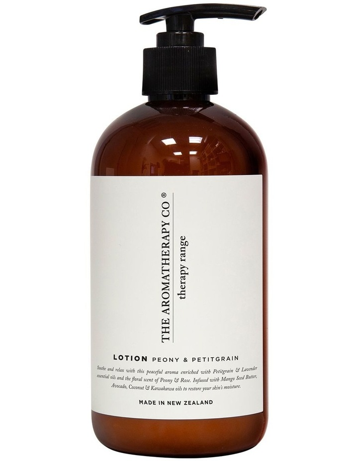 Therapy Hand & Body Lotion 500ml - Soothe Peony & Petitgrain image 1