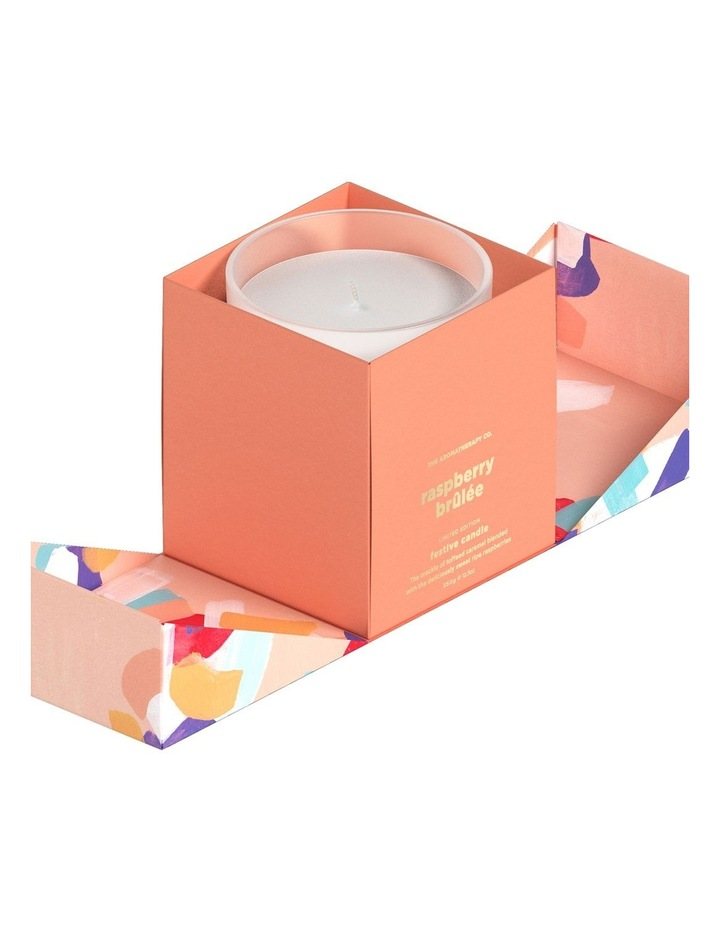 Festive Favours Candle 350g - Raspberry Brulee image 2