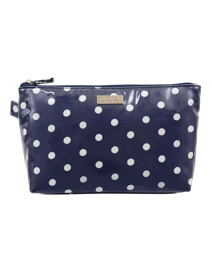 Navy Polka Dot Large Luxe Cos Bag image 1