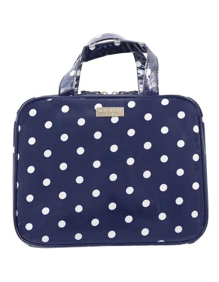 Navy Polka Dot Large Hold All Cos Bag image 1