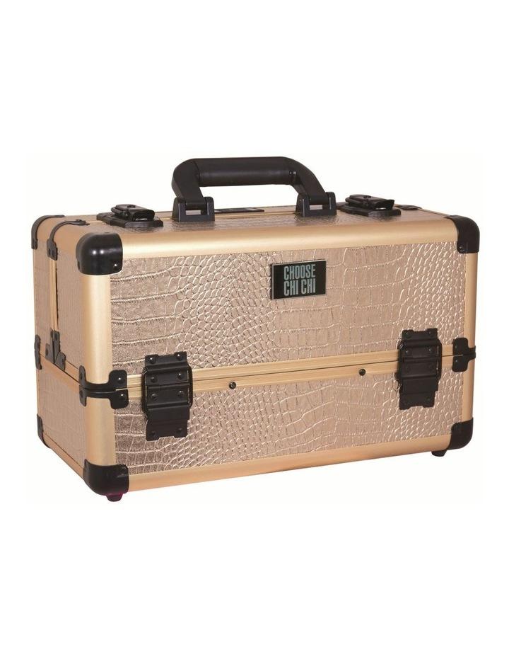 Professional Beauty Case - Rose Gold Croc image 1