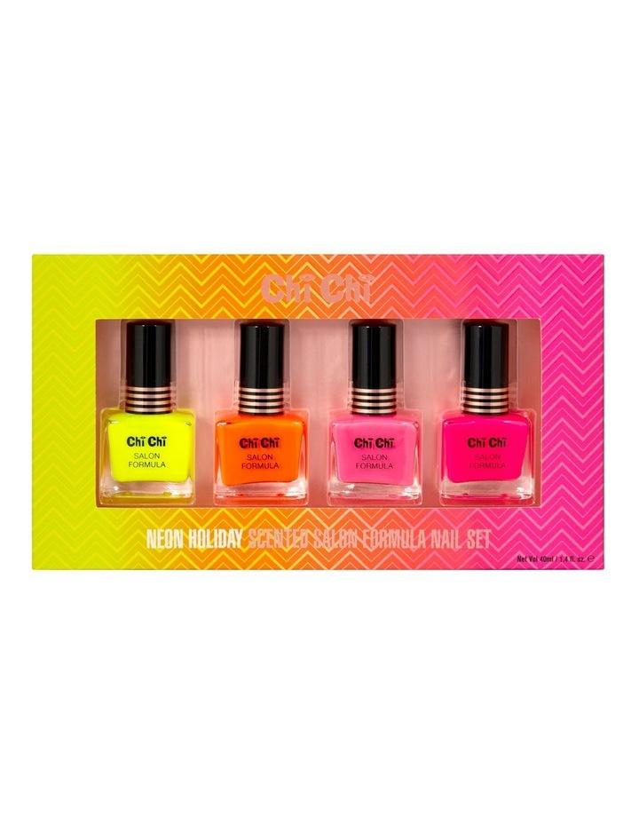 4pc Nail Set Neon Holiday image 1