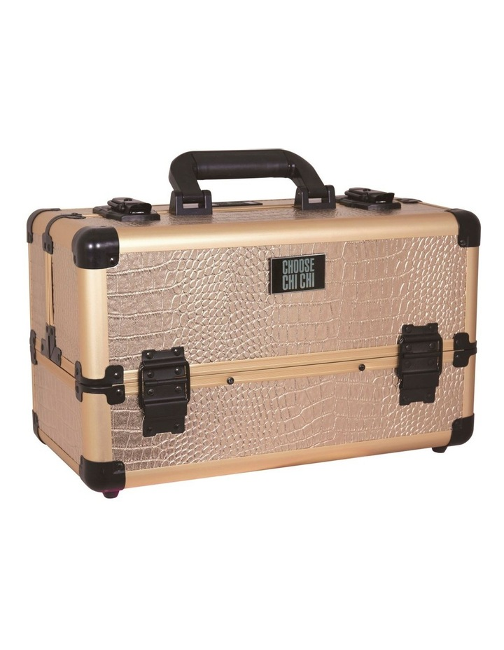 Professional Beauty Case - Rose Gold Croc image 1