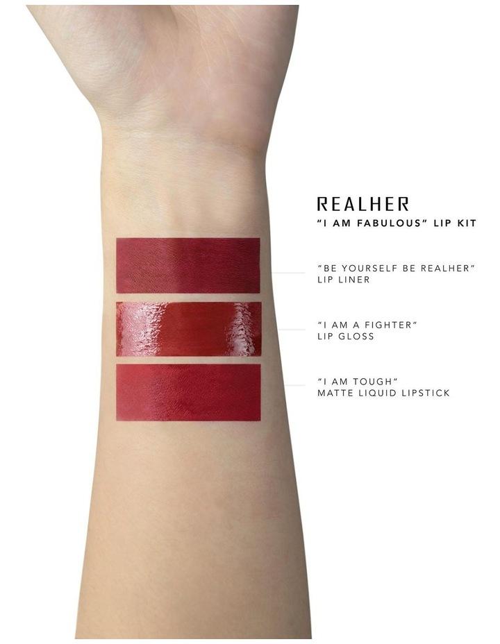 I Am Fabulous Deep Red Lip Kit image 2