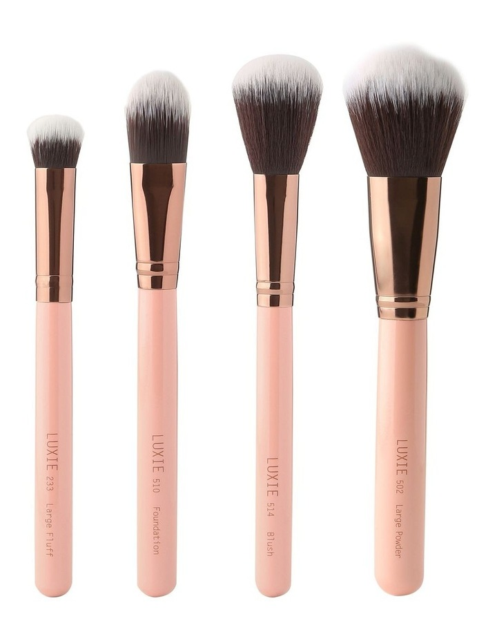 Face Complexion Brush Set Rose Gold image 1