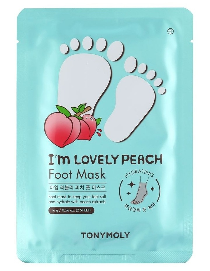 I'm Lovely Peach Foot Mask image 1
