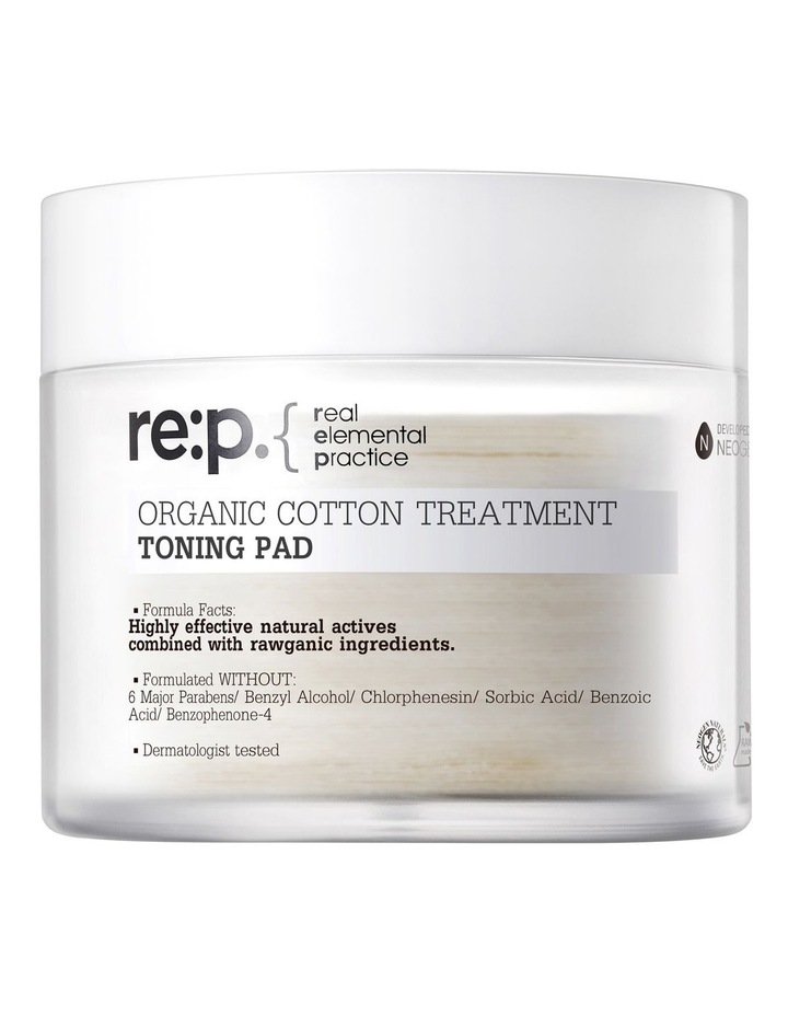 Organic Cotton Treatment Toning Pad 130ml (90 pads) image 1