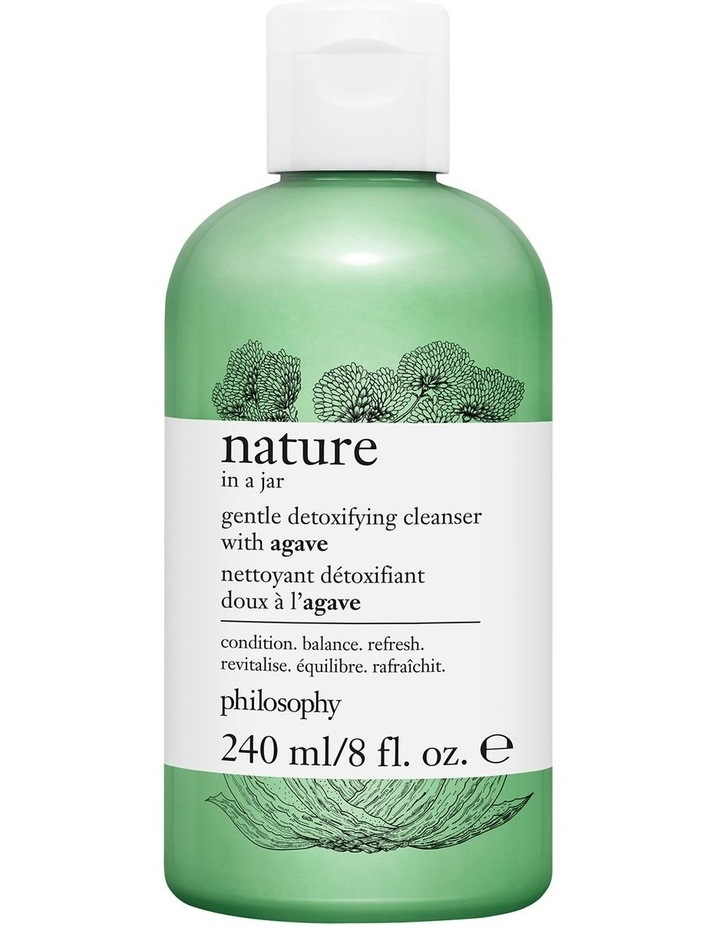 Nature In A Jar Gentle Detoxifying Cleanser With Agave 240ml image 1