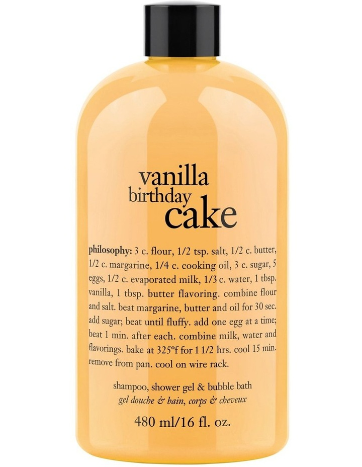 Vanilla Birthday Cake Shampoo Bath And Shower Gel image 1