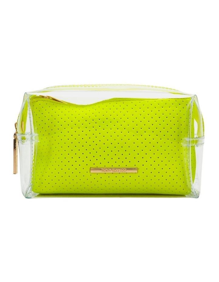 2 in 1 Clear/Neoprene Cosmetic Bag Yellow image 1