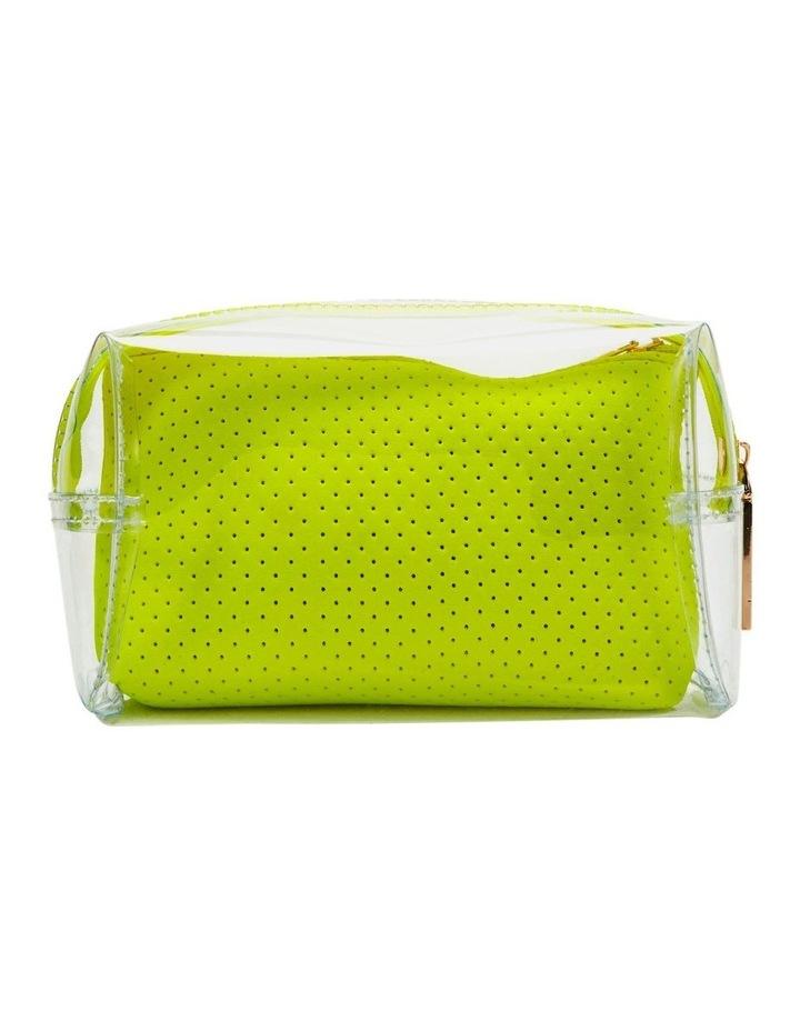 2 in 1 Clear/Neoprene Cosmetic Bag Yellow image 2