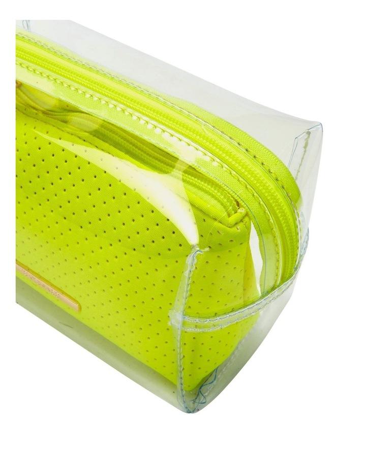 2 in 1 Clear/Neoprene Cosmetic Bag Yellow image 3