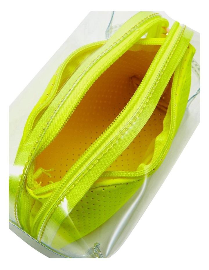 2 in 1 Clear/Neoprene Cosmetic Bag Yellow image 4