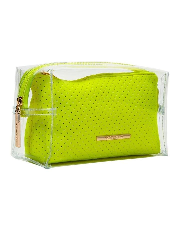 2 in 1 Clear/Neoprene Cosmetic Bag Yellow image 6