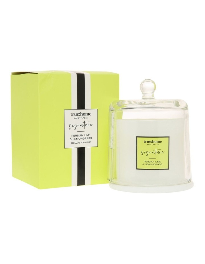 Signature Candle With Cloche Persian Lime & Lemongrass image 1