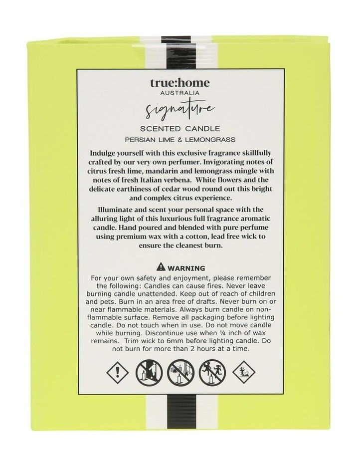 Signature Candle With Cloche Persian Lime & Lemongrass image 2