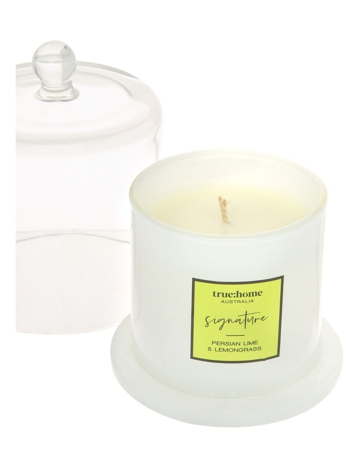 Signature Candle With Cloche Persian Lime & Lemongrass image 3