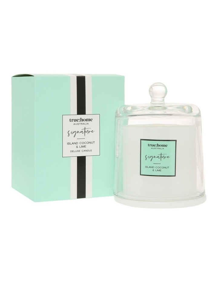 Signature Candle With Cloche Island Coconut & Lime image 1